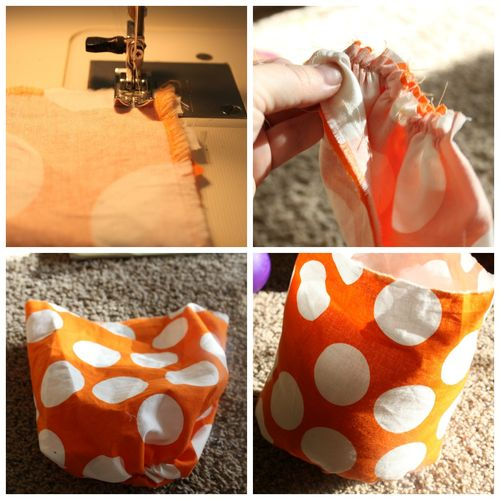 Fabric Pumpkin Collage